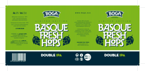 Boga Basque Fresh Hops 2019 ETIKETA