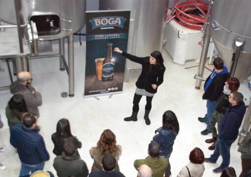 Visitas a fabrica de cerveza artesana en el Pais Vasco. Fabrica de cerveza Boga en Mungia. Catas de cerveza.
