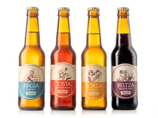 Catalogo de cerveza artesanal Boga. Cerveza artesanal. Boga garagardoa. Cerveza pilsen.Cerveza tostada.Cerveza ipa.Cerveza negra.